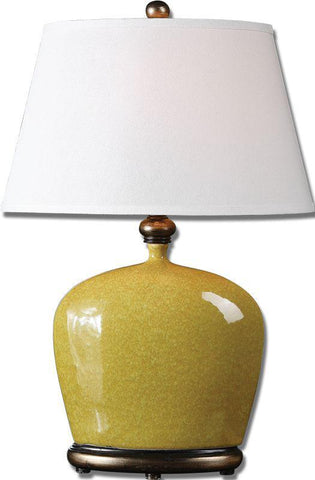 Uttermost 26286 Geraldine Burnt Yellow Table Lamp - UTMDirect