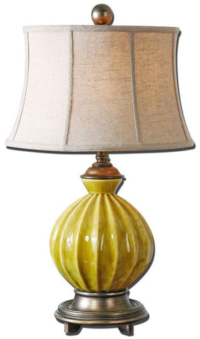 Uttermost 27491 Pratella Burnt Yellow Table Lamp - UTMDirect