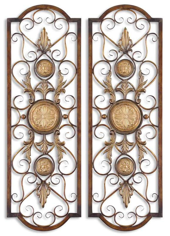Uttermost 13475 Micayla Panels S/2 Metal Wall Art
