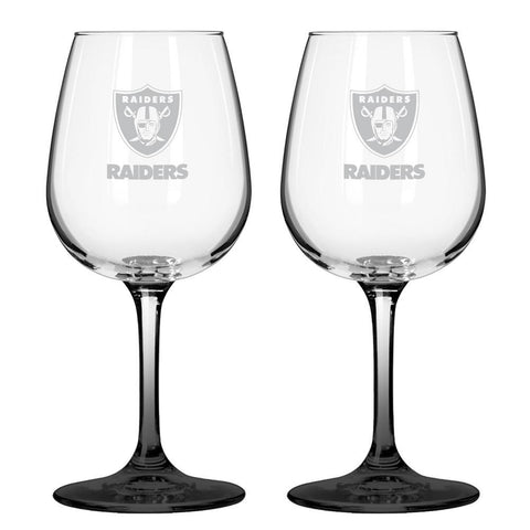 12Oz Nfl/Raiders 2Pk Wine - Peazz.com