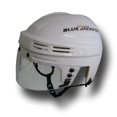 Official NHL Licensed Mini Player Helmets - Columbus Blue Jackets (White) - Peazz.com