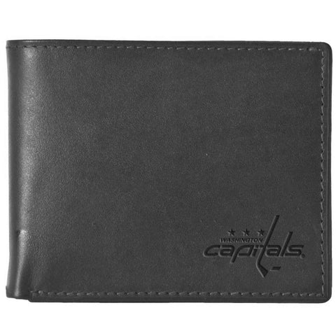 Pangea Black Leather Wallet - Washington Capitals - Peazz.com