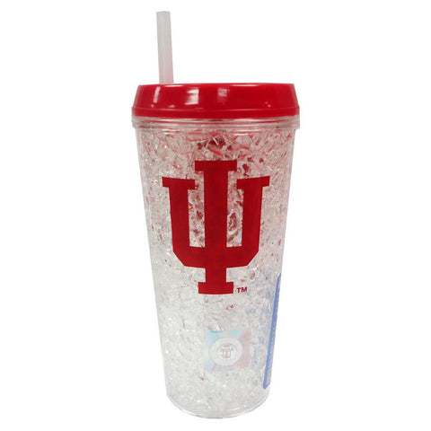 Tumbler With Straw Indiana Hoosiers - Peazz.com