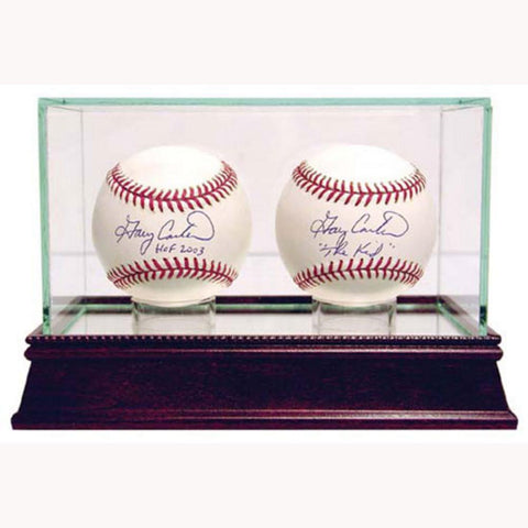 Steiner Double Balll Glass Baseball Display - Peazz.com
