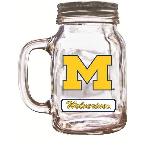 16Oz Mason Jar Michigan Wolverines - Peazz.com