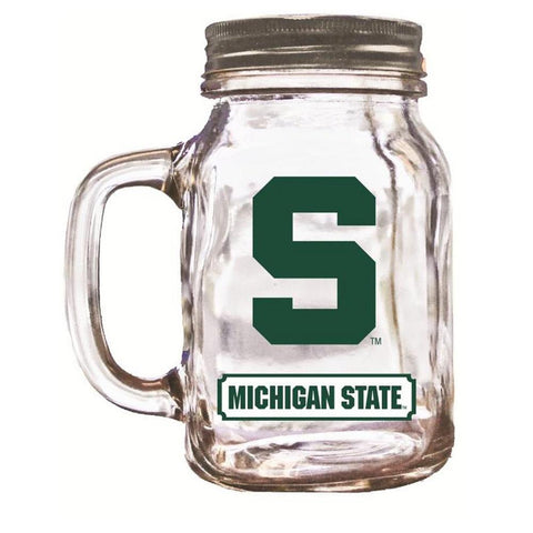 16Oz Mason Jar Michigan State - Peazz.com