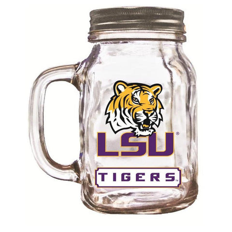 16Oz Mason Jar Lsu Tigers - Peazz.com