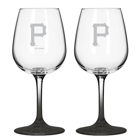12Oz Mlb/Pirates 2Pk Clear Wine - Peazz.com