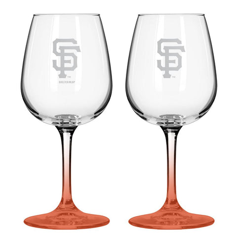12Oz Mlb/Giants 2Pk Box Wine Set - Peazz.com