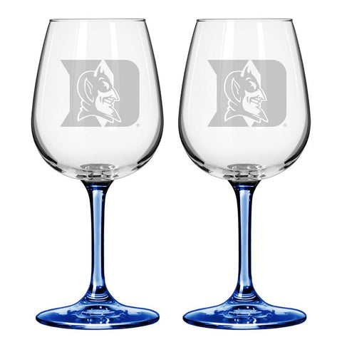 12Oz Ncaa/Duke 2Pk Wine Set - Peazz.com