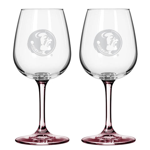 12Oz Ncaa/Florida St 2Pk Wine Set - Peazz.com