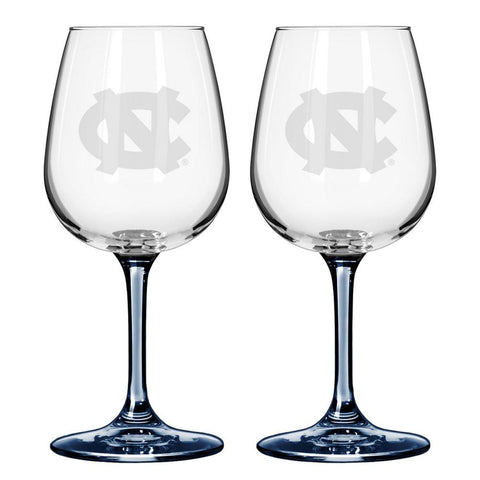 12Oz Ncaa/N. Carolina 2Pk Wine Set - Peazz.com