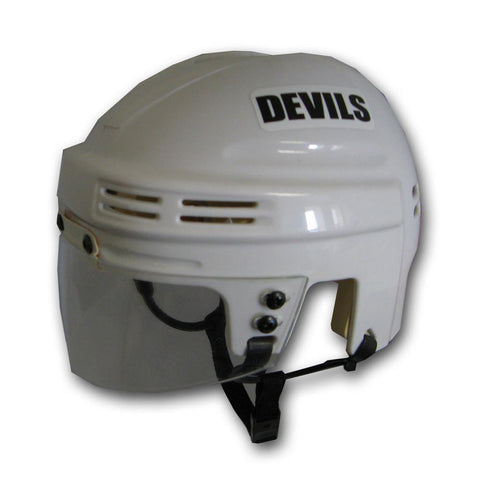 Official NHL Licensed Mini Player Helmets - New Jersey Devils (White) - Peazz.com