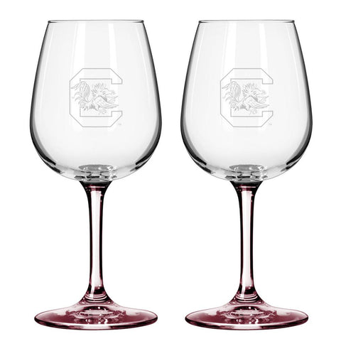 12Oz Ncaa/S.Carolina 2Pk Wine Set - Peazz.com