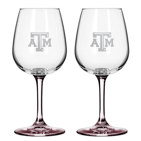 12Oz Ncaa/Texas A&M 2Pk Wine Set - Peazz.com