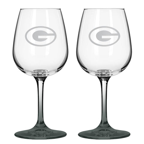 12Oz Nfl/Packers 2Pk Wine Set - Peazz.com