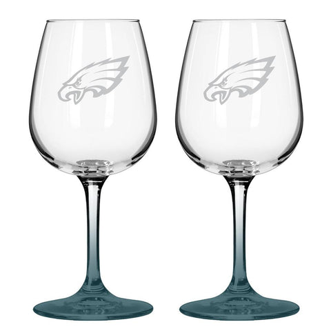 12Oz Nfl/Eagles 2Pk Wine - Peazz.com