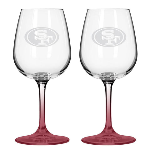 12Oz Nfl/49Ers 2Pk Wine - Peazz.com