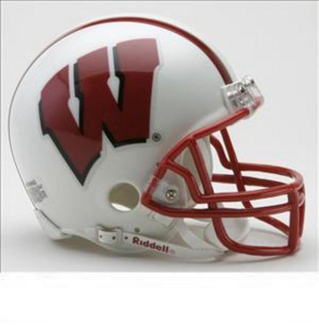 Collegiate Mini Replica Helmet - University of Wisconsin - Peazz.com