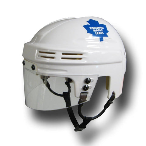 Official NHL Licensed Mini Player Helmets - Toronto Maple Leafs (White) - Peazz.com