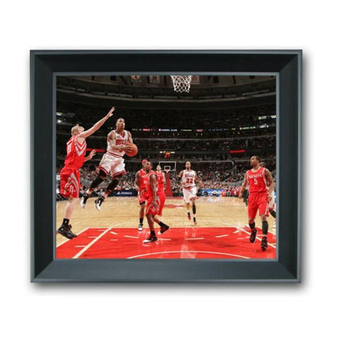 13 X 11 3-D Photo Treehugger Framed - Chicago Bulls Derrick Rose - Peazz.com