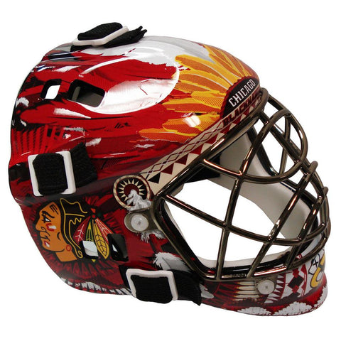 Franklin NHL Mini Goalies Mask- Chicago Blackhawks - Peazz.com