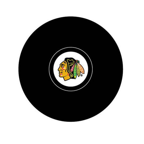 Team Logo Hockey Puck - Chicago Blackhawks - Peazz.com