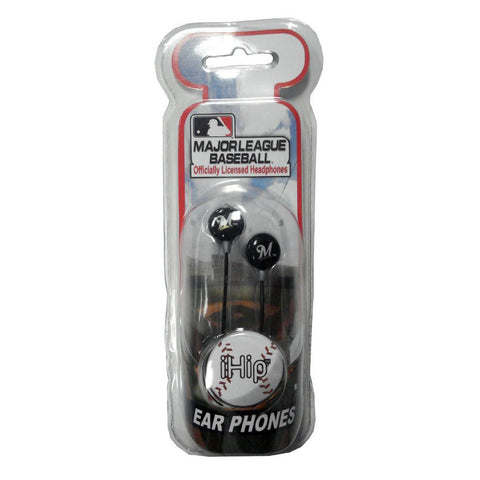 Ihip Logo Baseball Earbuds - Milwaukee Brewers - Peazz.com