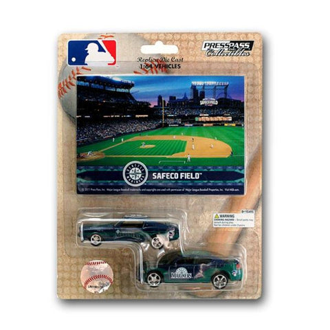 MLB Ford Mustang And Dodge Charger 1:64 Scale Diecast Cars - Seattle Mariners - Peazz.com