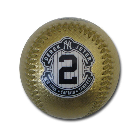 Gold Jeter replica Retirement logo baseball - Peazz.com