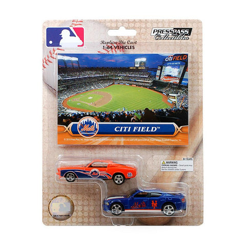MLB Ford Mustang And Dodge Charger 1:64 Scale Diecast Cars - New York Mets - Peazz.com