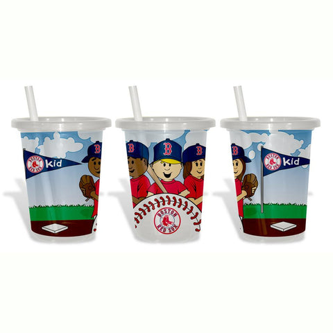 Baby Fanatic Sip N Go 3 Pack of Cups - Boston Red Sox - Peazz.com