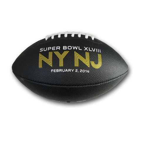 Superbowl 48 Junior Size Rubber Ball with All Over Graphics - Peazz.com