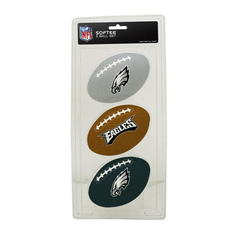 3-Football Softee Set Philadelphia Eagles - Peazz.com
