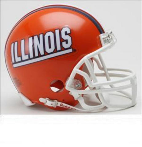 Collegiate Mini Replica Helmet - Illinois - Peazz.com
