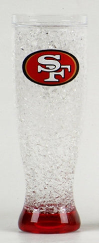 16Oz Crystal Freezer Pilsner NFL - San Francisco 49ers - Peazz.com