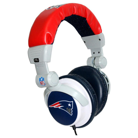 NFL Team Ihip Logo Dj Headphone - New England Patriots - Peazz.com