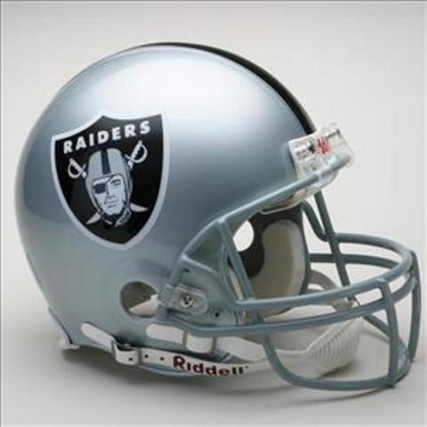 NFL Full Size Deluxe Replica Helmet - Raiders - Peazz.com