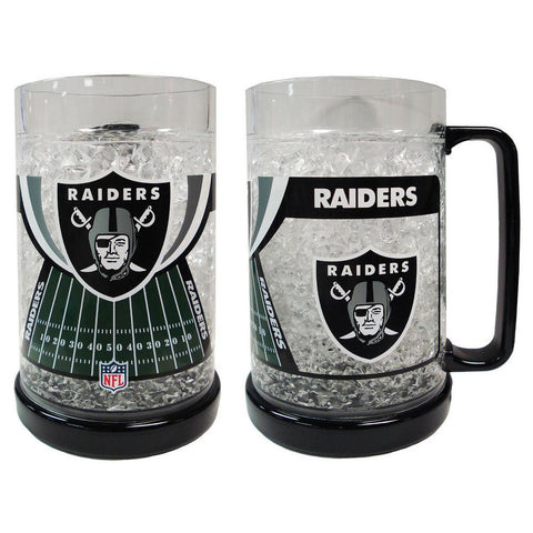 16Oz Crystal Freezer Mug NFL - Oakland Raiders - Peazz.com
