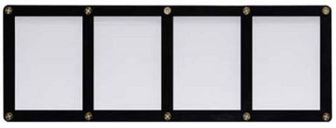 Ultra Pro 4-Card Black Frame Card Holder With Recessed Card Area - Peazz.com