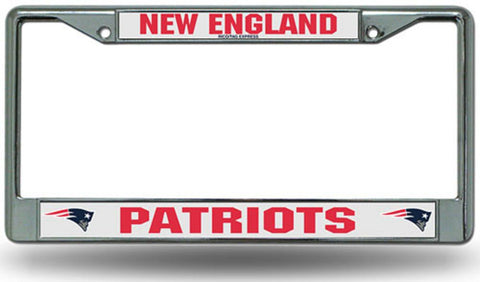 Chrome License Plate Frame - New England Patriots - Peazz.com