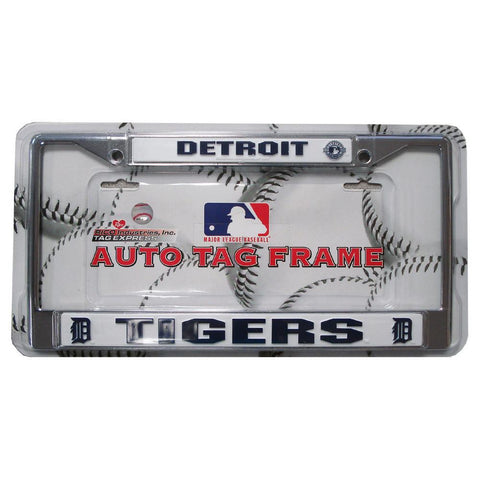 Chrome License Plate Frame - Detroit Tigers - Peazz.com