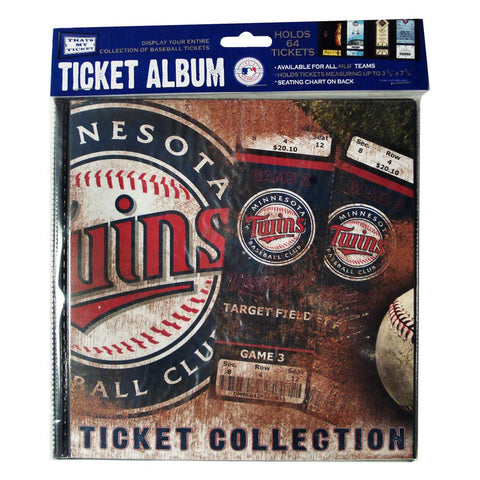 Ticket Album MLB - Minnesota Twins (Holds 96 Tickets) - Peazz.com