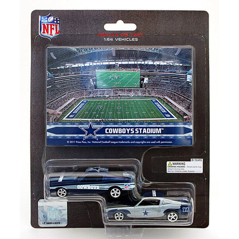 NFL Ford Mustang And Dodge Charger 1:64 Scale Diecast Cars - Dallas Cowboys - Peazz.com