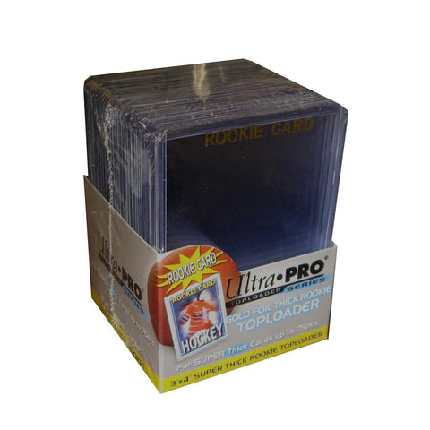 "Ultra Pro3X4 Topload Rookie Gold ""Thick"" Border Card Holder (25) - Peazz.com"