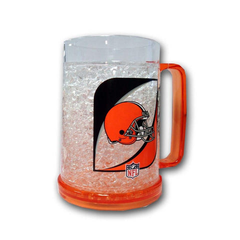 16Oz Crystal Freezer Mug NFL - Cleveland Browns - Peazz.com