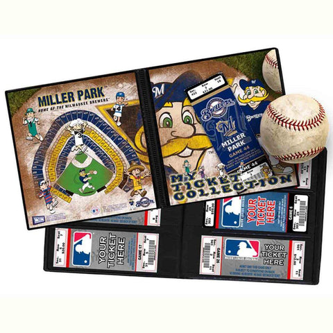 Ticket Album MLB - Milwaukee Brewers Mascot (Holds 96 Tickets) - Peazz.com
