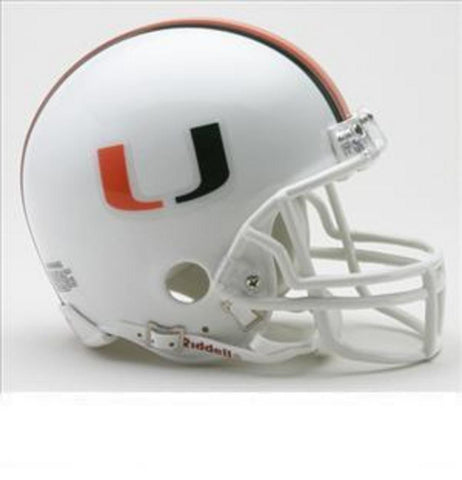 Collegiate Mini Replica Helmet - University of Miami - Peazz.com