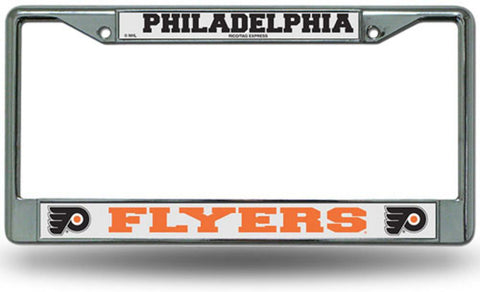 Chrome License Plate Frame - Philadelphia Flyers - Peazz.com