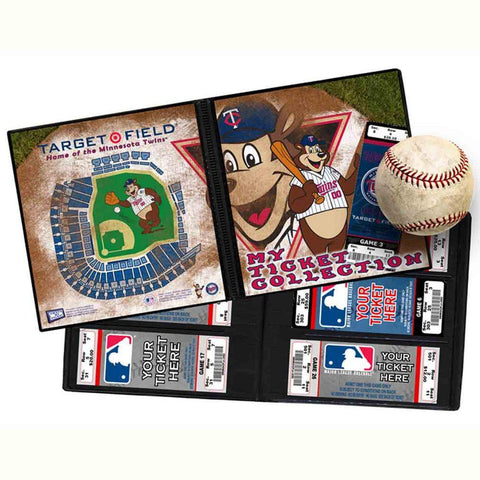 Ticket Album MLB - Minnesota Twins Mascot (Holds 96 Tickets) - Peazz.com